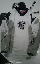MSR Starlet Riding Shirt - White - Black - Womens Size L - Motorcross