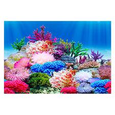 Double Sided Aquarium Aquascape Stone Background Fish Tank Landscape Decor #M7A
