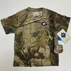 NWT 2T Georgia Bulldogs Realtree Camo T-Shirt Toddler Short Sleeve Shirt Tee