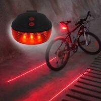 2 Laser +5 LED Rear Cycling Bicycle Bike Flashing Lamp Light Tail Safety Warning
