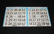 BINGO PAPER Cards 1 on's singles  200 Blue Bdr sheets  FREE SHIPPING IN US