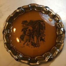 Ridgway Rare Large England Antique Coaching Days Plate A Christmas Visitor