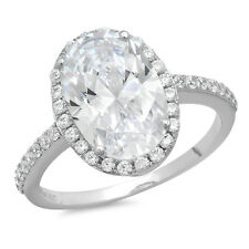 1.98ct Oval Cut solitaire Engagement Ring Halo 14k White Gold Bridal band