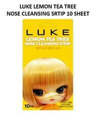 Korean LUKE LEMON TEA TREE NOSE CLEANSING STRIPS Blackhead Peel Off pack 10 PCS