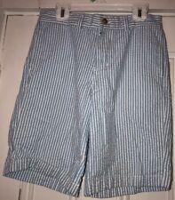 Vineyard Vines Boys Size 12 Seersucker Blue and White Shorts