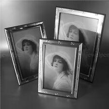 13x18 KLASSISCHER KREUZBAND RIBBON AND REED 925 STERLING SILBERRAHMEN FOTORAHMEN