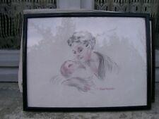 Dessin Crayon Mere et Enfant de Vincent Anglade