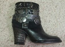 NWOB el dantes western leather ankle boots size 35