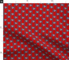 Stars Flag Tricolor Red White And Blue Tennessee Spoonflower Fabric by the Yard