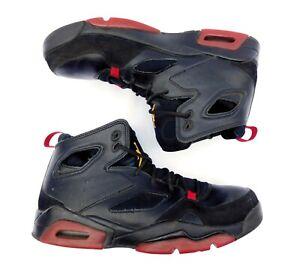 Nike Air Jordan Men's Flight Club '91 Sz. 9.5 Black Red Retro Sneakers Shoes EUC