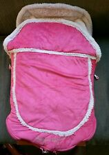 Gagou Tagou Cuddle Bag Bunting for Strollers and Car Seats Pink w/Ivory