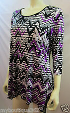 NYGARD womens TUNIC  3/4 sleeves blouse SIZE MDP new nwt
