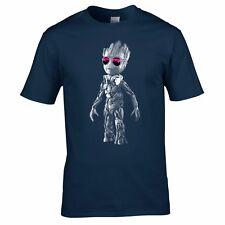 DJ Baby Groot T-shirt - Headphones Music Galaxy Party Disco Mens Yoda Standing 4xl Navy Blue
