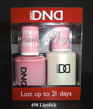 DND Daisy Soak Off Gel Polish Lipstick 498 full size 15ml LED/UV gel duo