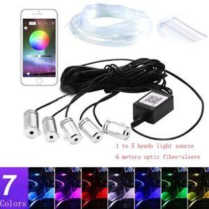 12V 2W APP Bluetooth Music Control RGB Car LED Lamp Fiber Optic Light Source Kit