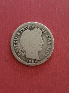 1899 Barber SILVER One Dime USA