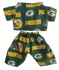 """Stuffaplush NFL Green Bay Packer Outfit For Doll or 15"""" Teddy Bear Made in USA!"""