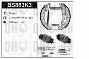 QH Brake Shoe Kit w/ Auto Adjust /Mounting /Wheel Brake Cylinder - BS883K3