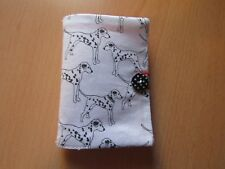 HAND MADE Dalmatian Needle case, 4 felt leaves & pack of needles(red & black)