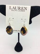 $34 ralph lauren silver tone oval drop earrings RL1d