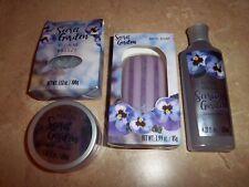 4 Piece Bath Set Secret Garden Floral Breeze Salts Body Cream  Soap Cream Bath