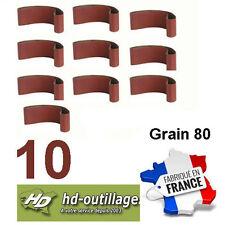 10 bandes toilées 100x914mm  grain 80  bois/métal  (Made CE)