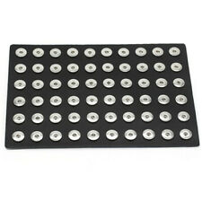 Portable Black Genuine Leather Display for 18mm Snap Buttons Chunk Jewelry