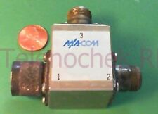 RF microwave single junction circulator 1013 MHz CF/  425 MHz BW/ 100 Watt/ data