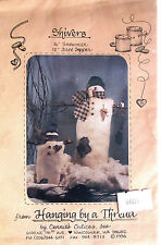 "Hanging By A Thread ""Shivers"" Snowman & Tree Topper Vintage Doll Pattern"