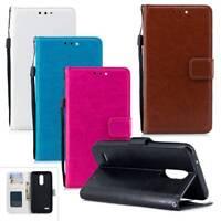 Wallet Card Pocket Phone Case Flip Stand Cover Skin For LG XIaomi ASUS Women Men