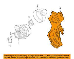 VW VOLKSWAGEN OEM 98-05 Beetle 1.9L-L4-Alternator Bracket 038903139K