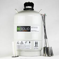 20 L Contenitore dell'azoto liquido criogenico serbatoio di stoccaggio DEWAR 6Pcs SECCHI degli Stati Uniti solido