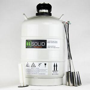 20 L Liquid Nitrogen Container Cryogenic Tank Storage Dewar 6Pcs Pails U.S.Solid