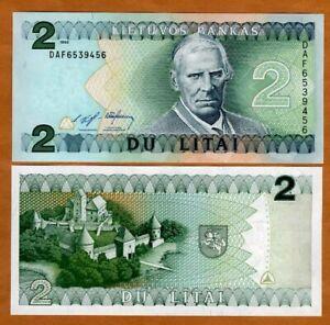Lithuania, 2 Litas, 1993, P-54, UNC > Pre-Euro