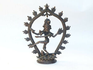 Antique Cast Bronze Vishnu Hindu Goddess Nepalese Himalayan India Alter Figure