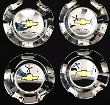 2007 2013 Silverado Tahoe Avalanche Suburban Wheel hub Center Caps Chrome set 4p
