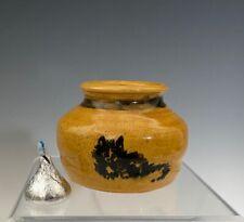 Kylemore Abbey Pottery Irish Studio Pottery Bud Vase with cat painting