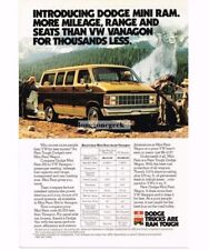 1981 Dodge Mini Ram Wagon Van Women Campers Hikers Vtg Print Ad