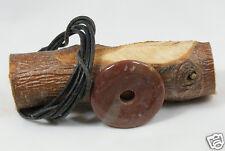 Donut Anhänger MOOKAIT ROT ca. 40 mm, mit Lederband ! Pischeibe, Pi-Scheibe