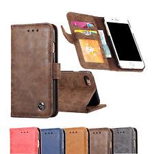 Spaltleder Handytasche für Huawei Samsung J3 J5 J7 Handyhülle Tasche Handycase