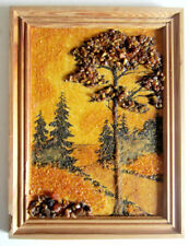 Genuine Baltic Amber Handcrafted Picture From Lithuania Beautiful Landscape