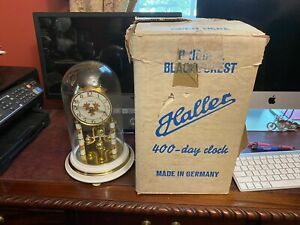 Vintage HALLER 400 Day Anniversary clock No Key As Is