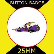 WACKY RACES BUTTON BADGES SET OF 11 CARS WITH BONUS LOG BADGE FREE UK POSTAGE