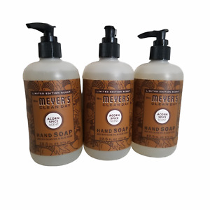 Mrs Meyers Acorn Spice Limited Edition Scent Hand Soap - 12.5 Oz Each (Lot of 3)