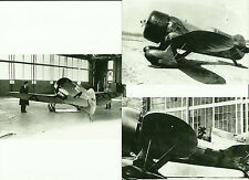 "LOT OF 3: GEE BEE SUPERSPORTSTER #3 BLACK & WHITE 4"" X 6"" AIRPLANE PRINTS"