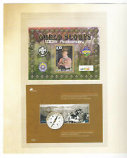 CENTENARY SCOUTING IN AUSTRALIA mint postage stamps folder PNG PORTUGAL URUGUAY