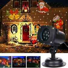 12 Patterns Waterproof LED Laser Motion Projector Light Holiday Party Xmas Lamp