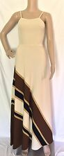 Crissa Linea Beige Knit Sleeveless Tank Maxi Dress - Vtg 70's - Size 8 -  Mint