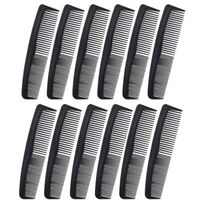 "Favorict (12 Pack) Flexible Thin 5"" Pocket Hair Comb Beard & Mustache Combs"