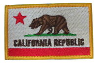 California Cali State Republic Flag Embroidered Hook Loop Patch